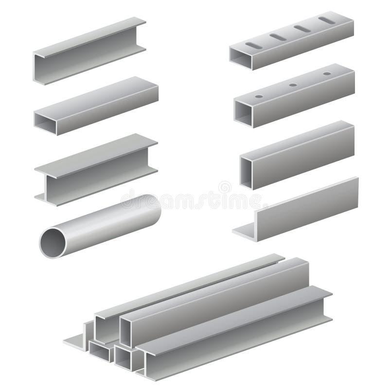 Profil et tubes en métal illustration stock