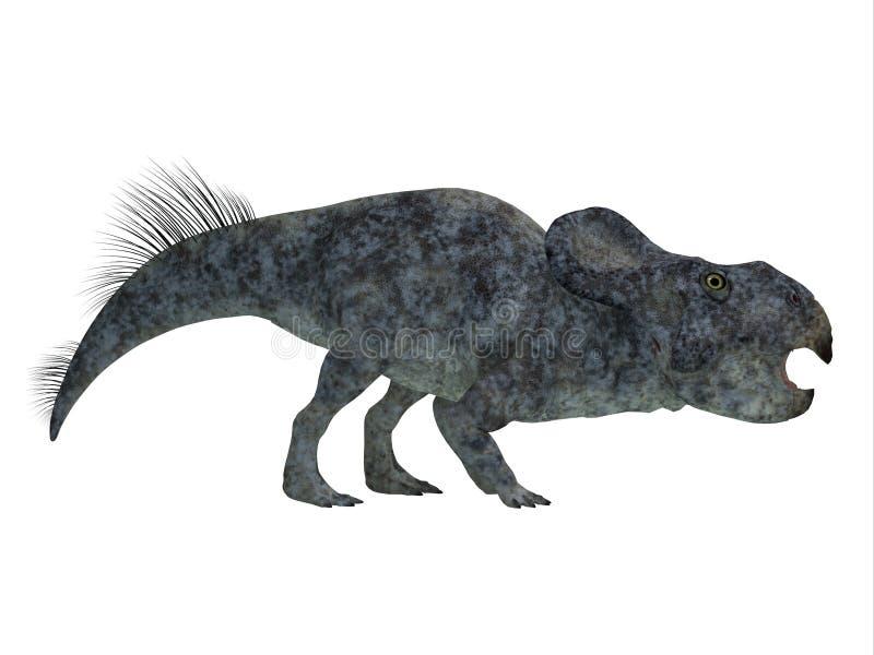 Profil för Protoceratops dinosauriesida royaltyfri illustrationer