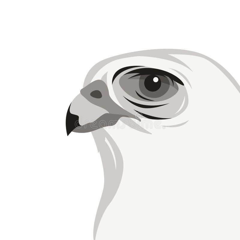 Profil för stil för lägenhet för illustration för Eagle huvudvektor vektor illustrationer