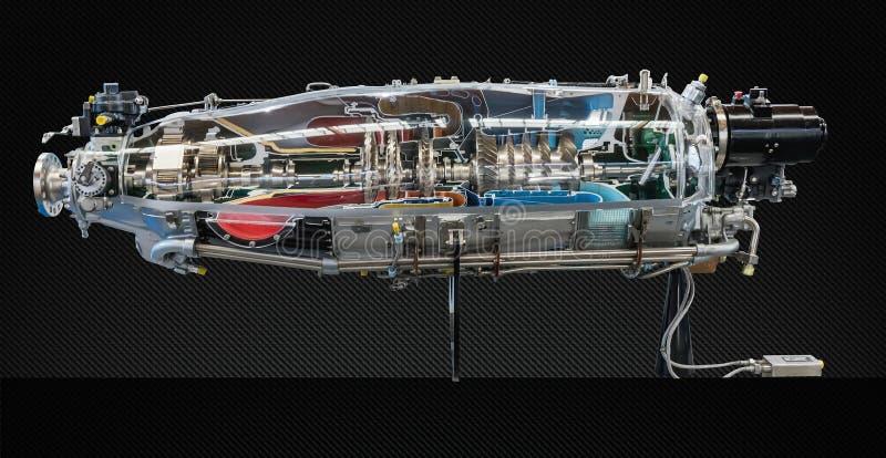 Profil för turbinmotor Flygteknologier fotografering för bildbyråer