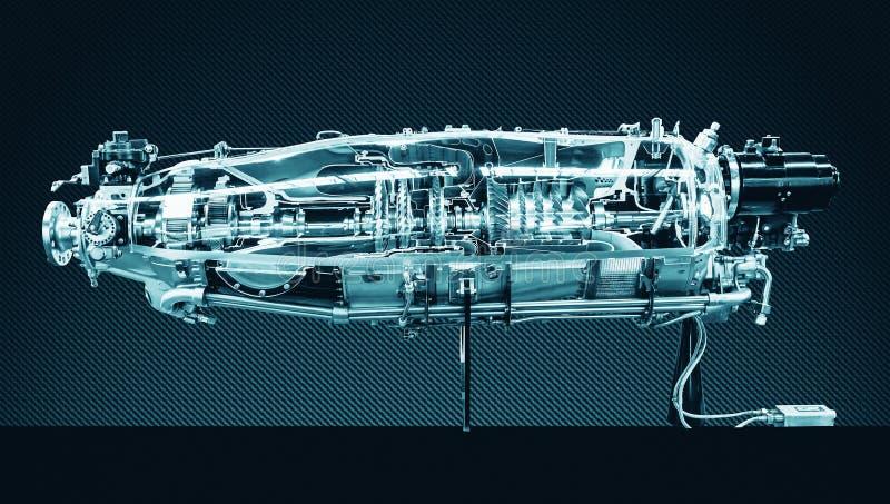 Profil för turbinmotor Flygteknologier royaltyfri bild