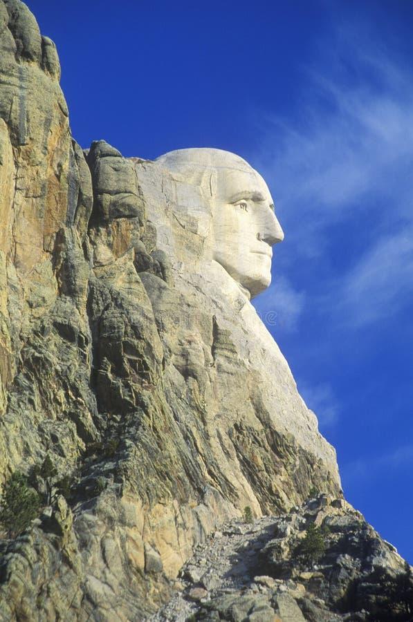 Profil George Washington, góry Rushmore Krajowy zabytek Blisko Błyskawicznego miasta, Południowy Dakota zdjęcia royalty free