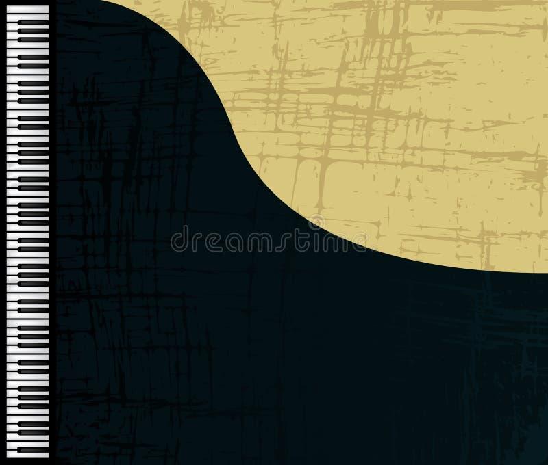 Profil grunge de piano illustration de vecteur