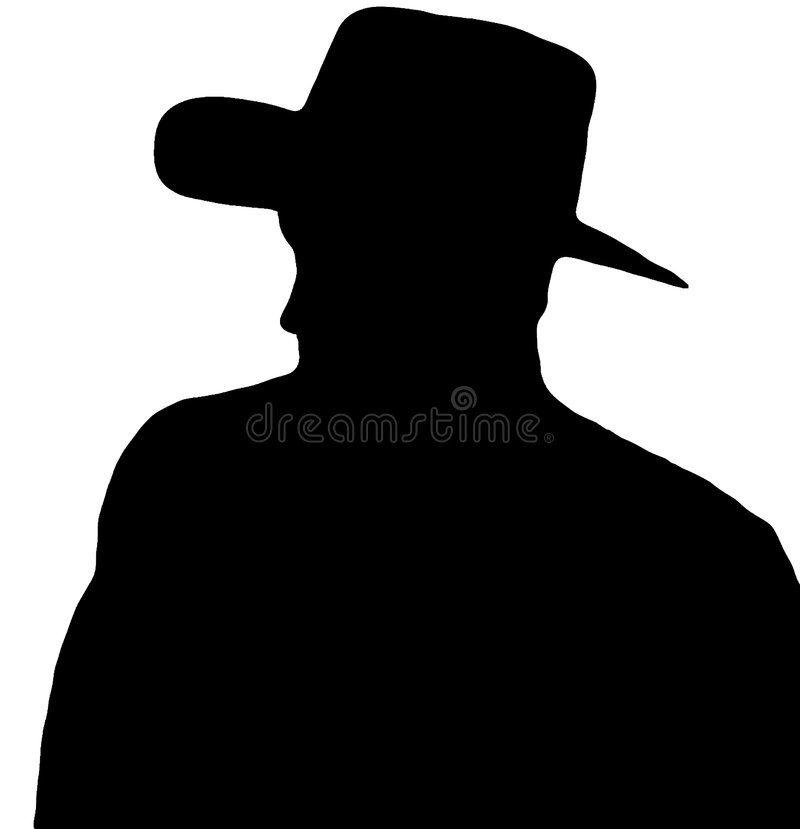 profil kowboja royalty ilustracja