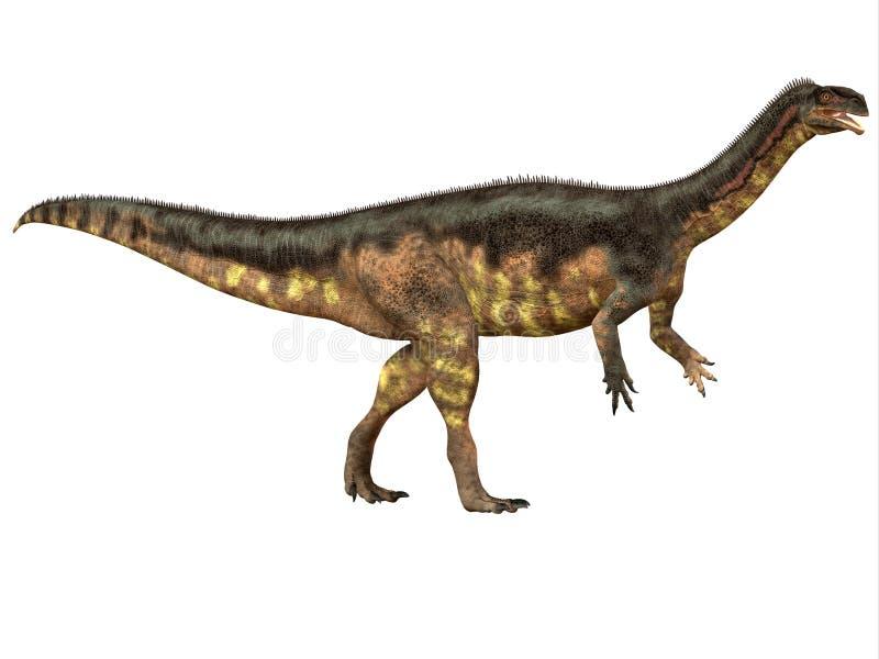 Profil latéral de Plateosaurus illustration de vecteur