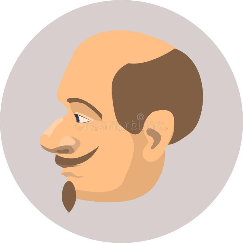 Profil mężczyzna zdjęcia royalty free