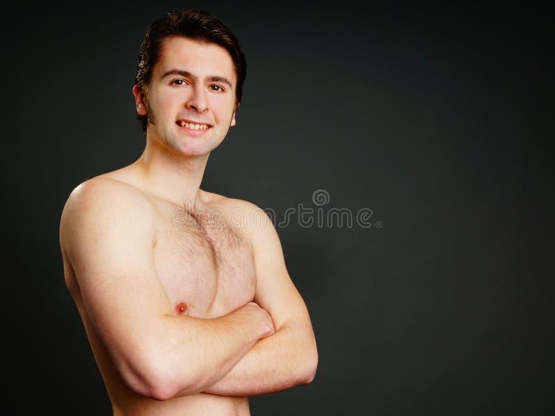 Profil młody człowiek zdjęcia stock