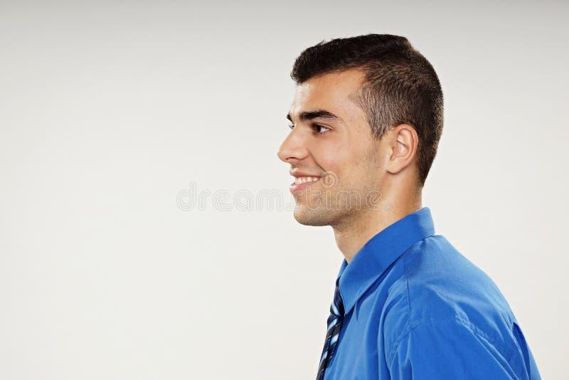 Profil młody człowiek fotografia stock