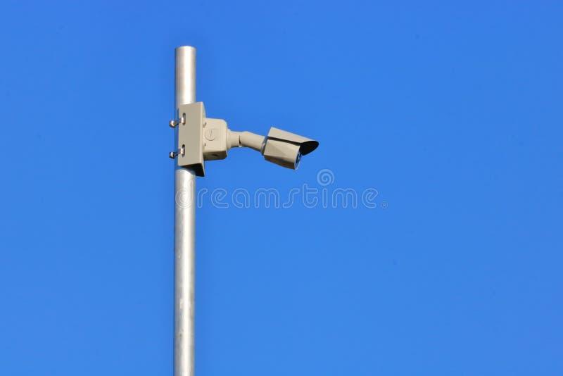 Profil Odosobniona Elektroniczna kamera bezpieczeństwa obrazy royalty free