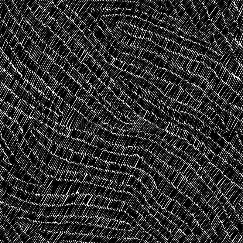 Profil onduleux sans couture brod? Corrections noires sur un fond blanc handmade Broderie, ouvrage d'agr?ment, cousant, passe-tem illustration de vecteur