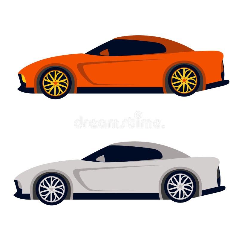 Profil plat de style d'illustration de vecteur de sport de voiture illustration libre de droits