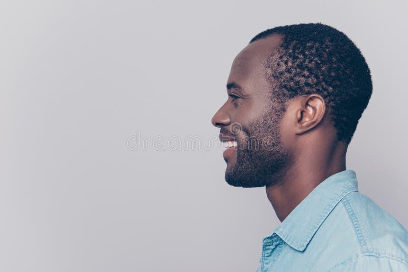Profil, portrait de vue de côté avec l'espace de copie, endroit vide pour pro image stock