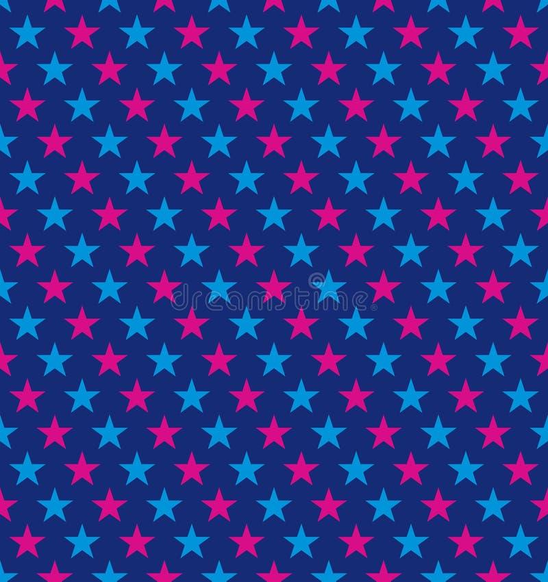 Profil sous convention astérisque coloré sans couture Idéal pour le papier d'emballage cadeau illustration de vecteur