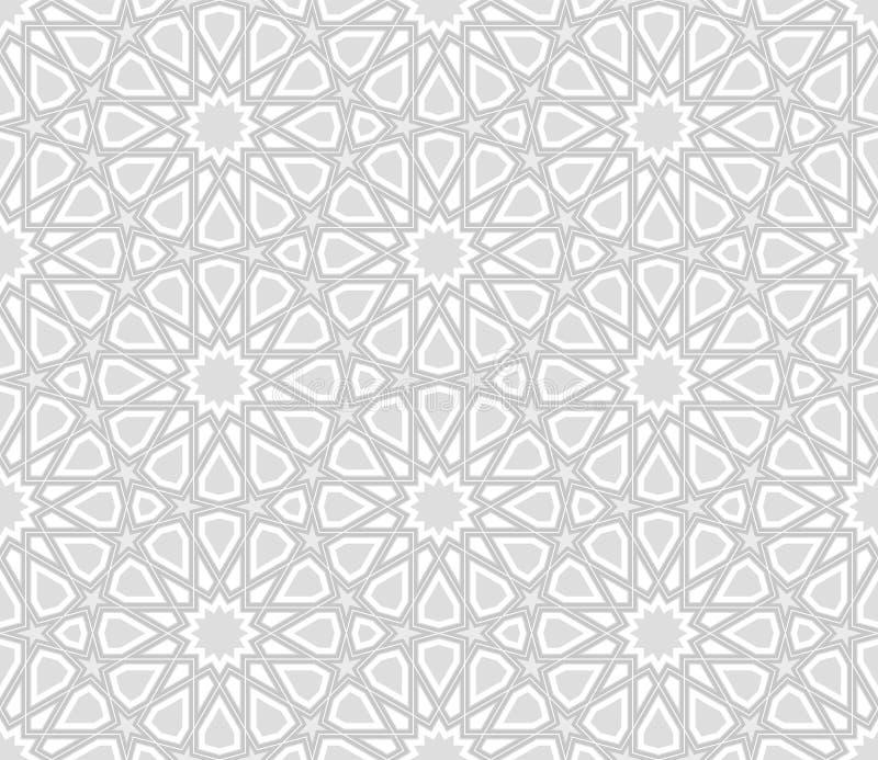 Profil sous convention astérisque d'arabesque, Grey Background léger illustration libre de droits