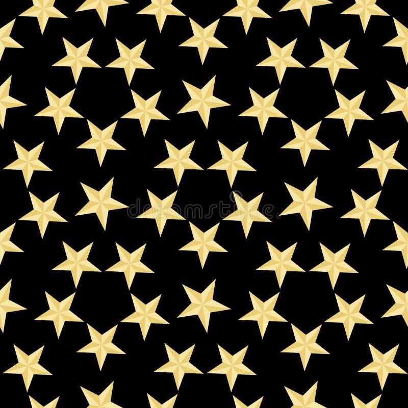 Profil sous convention astérisque d'or sur le fond noir Illustration de vecteur Texture abstraite élégante moderne Texture géomét illustration de vecteur