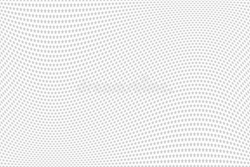 Profil sous convention astérisque Texture ondulée Fond texturisé blanc illustration de vecteur