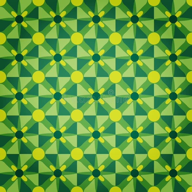 Profil sous convention astérisque vert de mosaïque illustration libre de droits