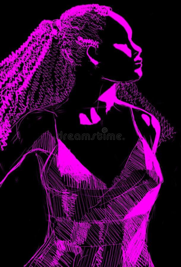 profil stylizowana kobieta ilustracji