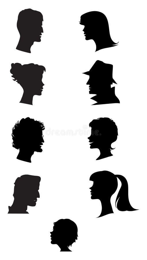 profil sylwetki ilustracja wektor