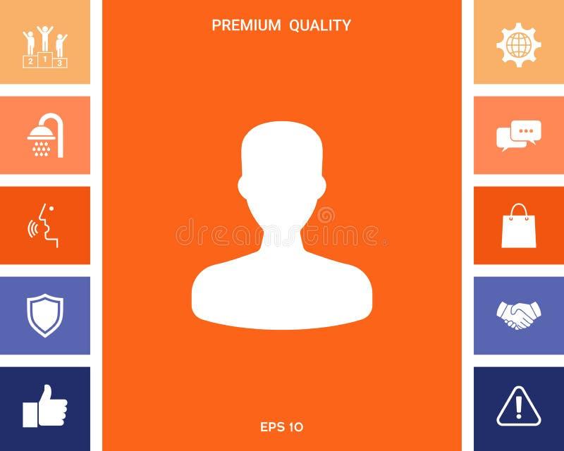 Profil, użytkownik ikona ilustracji