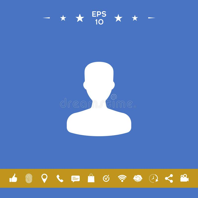 Profil, użytkownik ikona royalty ilustracja