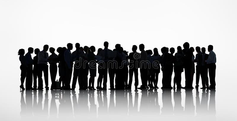 Profila il gruppo di gente di affari di lavoro immagine stock