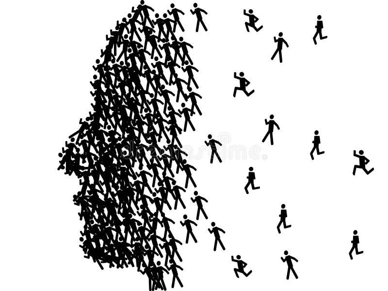 Profilato del fronte dell'uomo illustrazione di stock