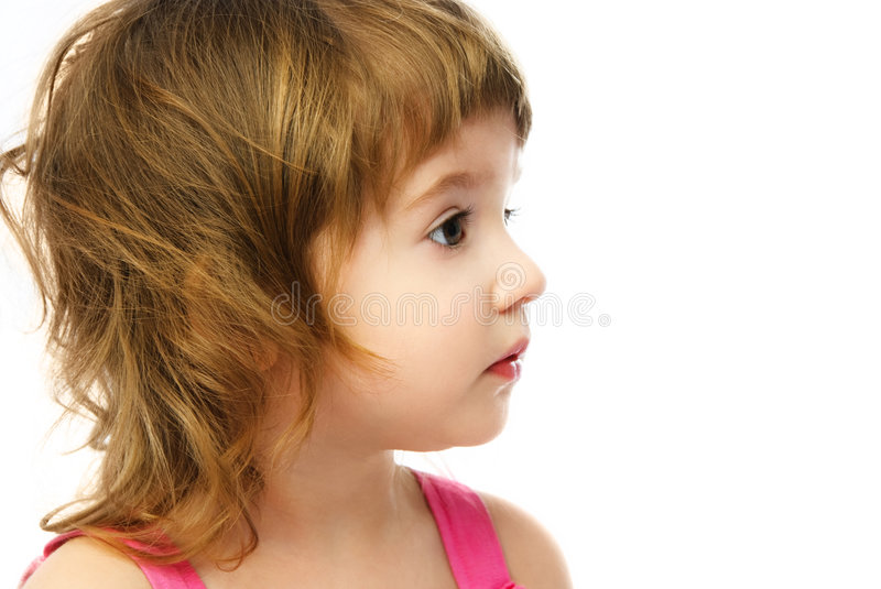 Download Profile Of An Adorable Caucasian Girl Stock Image - Image: 8128407