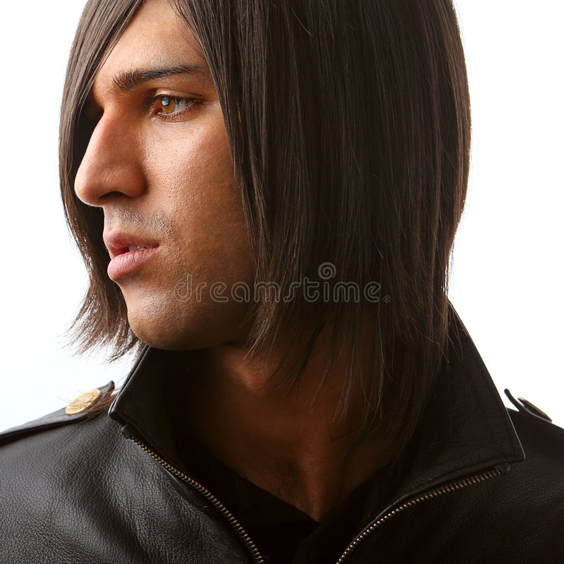 Profile of attractive man royalty free stock photos