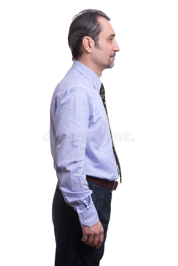 Profile business man stock images