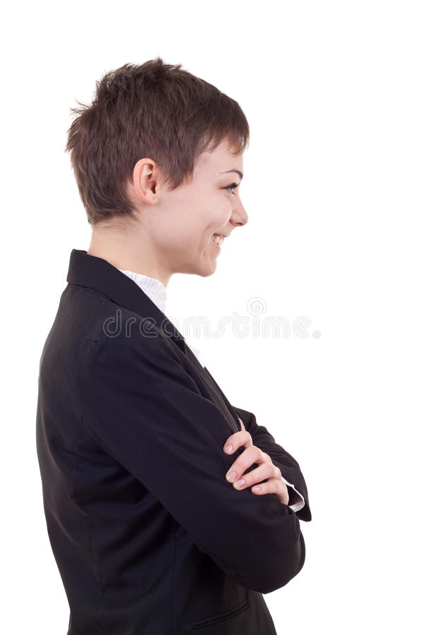 Profile of a business woman stock photos