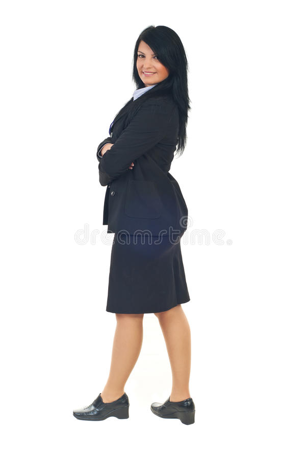 Profile Of Business Woman Royalty Free Stock Images