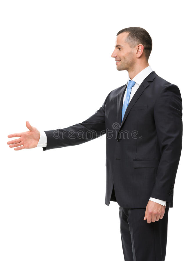 Download Profile Of Businessman Handshake Gesturing Stock Photo - Image: 34416252