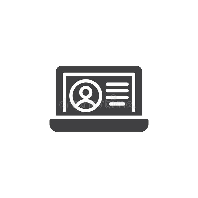 Profile card vector icon royalty free illustration