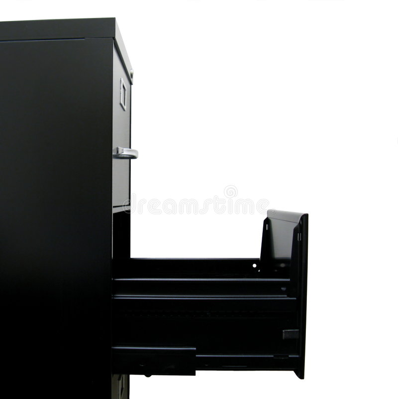 Profile of Filing Cabinet with stock photography
