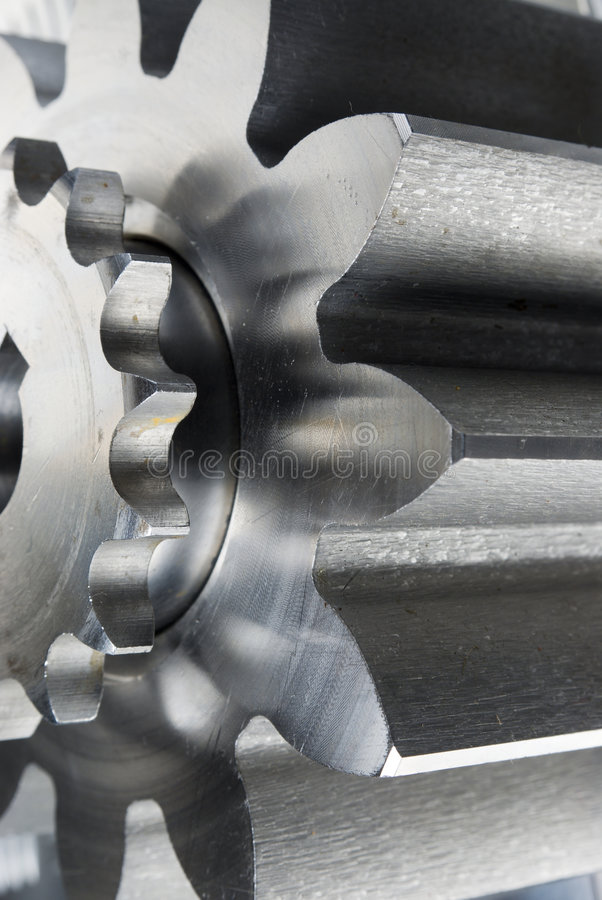 Profile of gears-concept stock photography