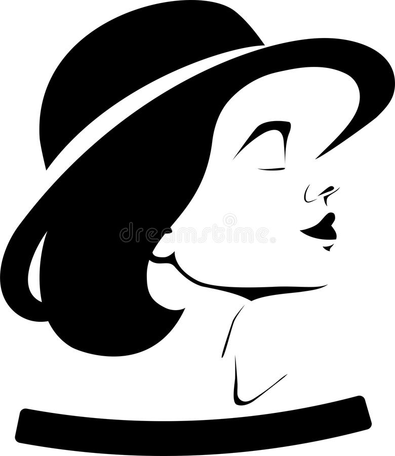 Profile Of A Girl In A Hat Stock Photography