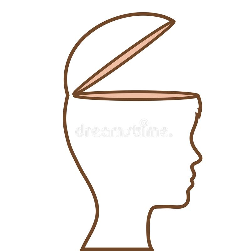 Profile human with open mind vector illustration design stock illustration