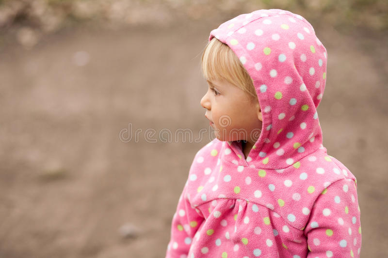 Download Profile Of A Little Girl In A Hood Stock Photo - Image: 28734126