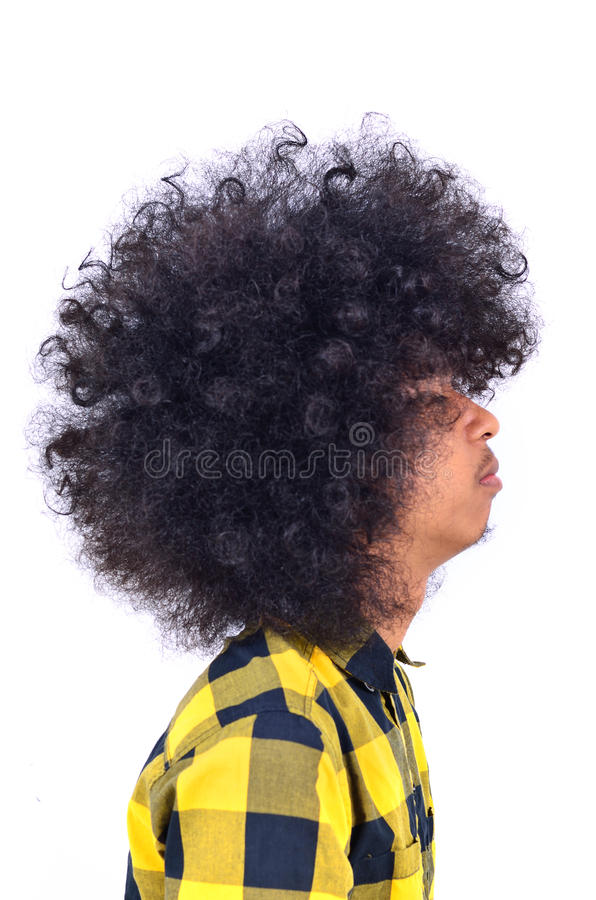 Profile of man with long hair. Close up of profile of man with long hair royalty free stock photography