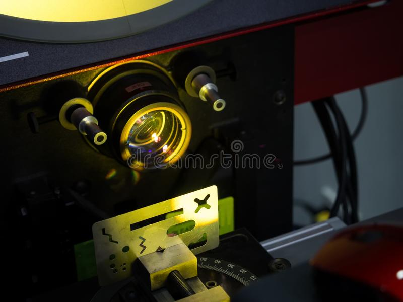 Profile measuring machine for high precision part manufacturing royalty free stock photo