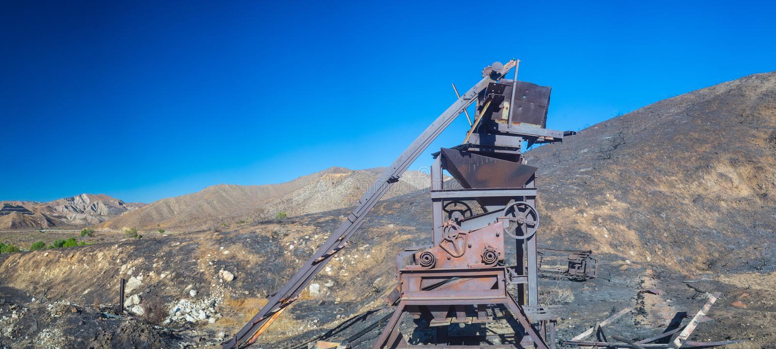Profile of Mining Equipment royalty free stock images