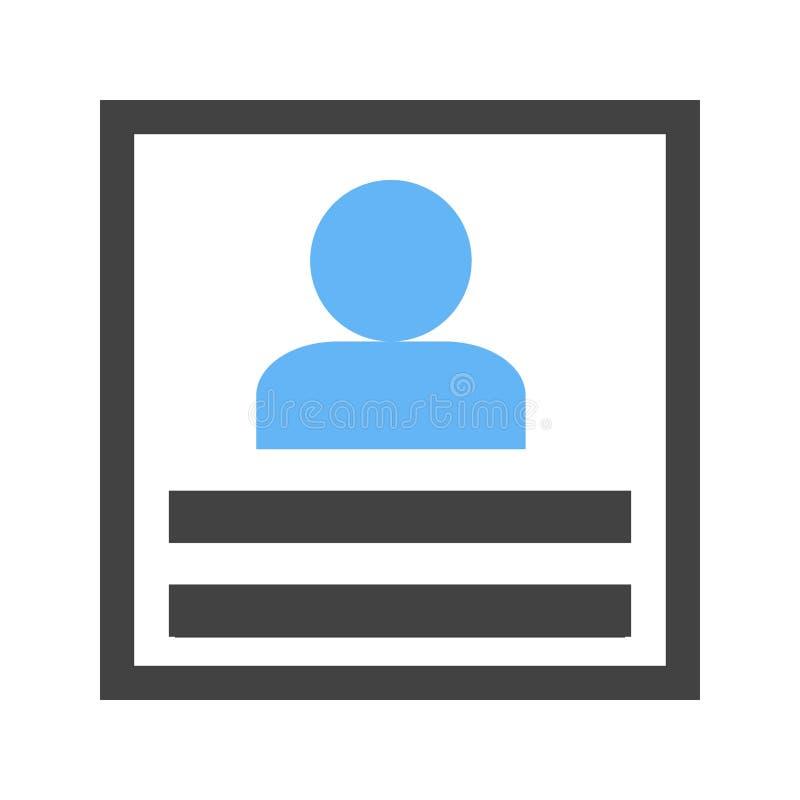 Profile, outline, summary vector illustration