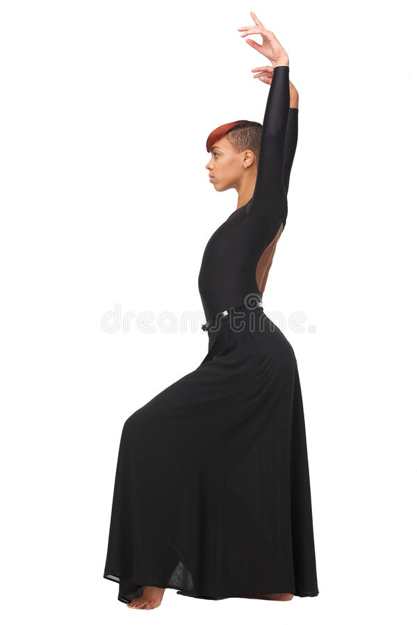 Download Profile Portrait Of An African Woman With Arms Up Stock Photo - Image: 28640348