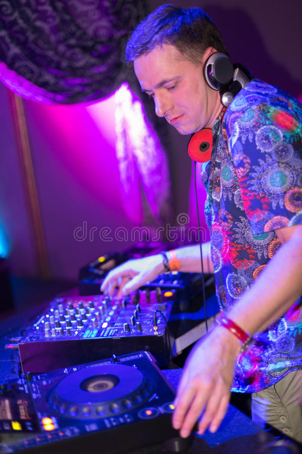 Free Profile Portrait DJ Mixes The Records Stock Image - 31682571