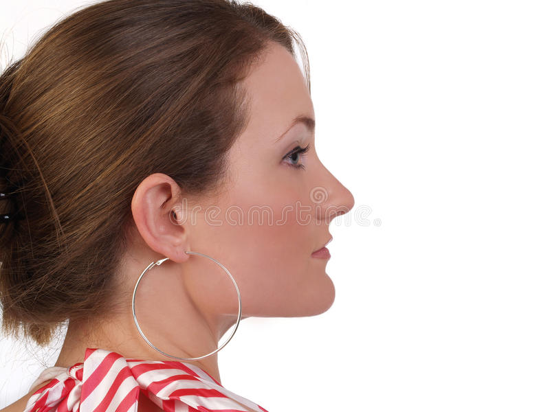 Profile Portrait Young Attractive Caucasian Royalty Free Stock Images