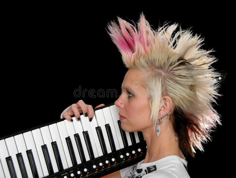 Download Profile of Punk Musician stock image. Image of hair, loud - 3336573