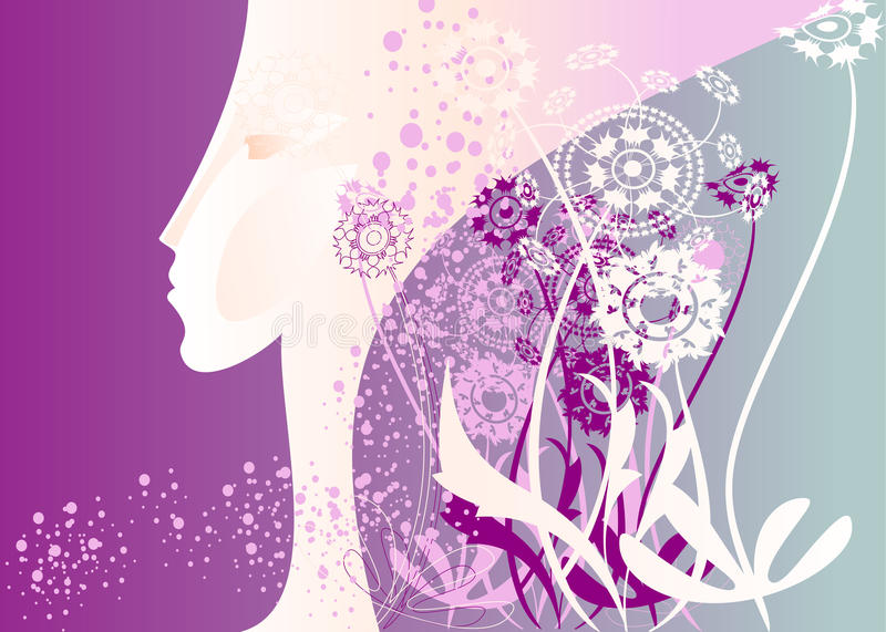 Profile purple vector illustration