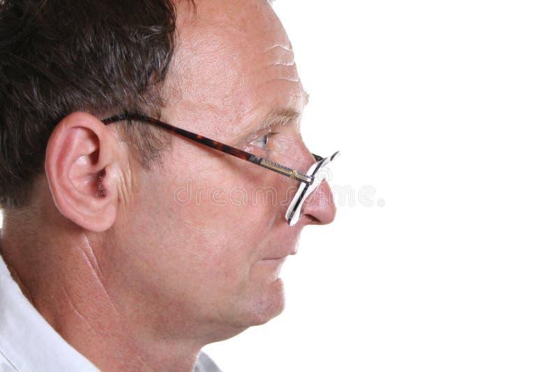 Profile senior stock images