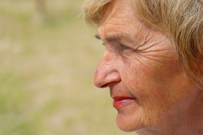 Download Profile of a senior woman stock photo. Image of retired - 2456078